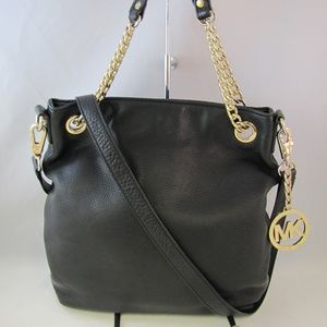 Michael Kors Jet Set N/S Pebbled Leather Tote Bag